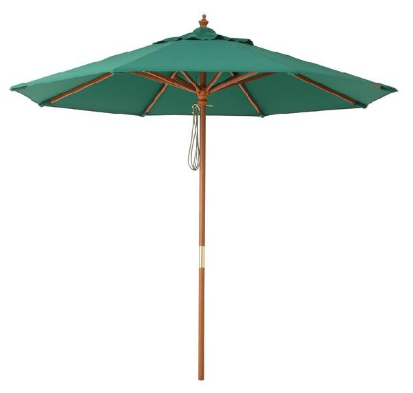 ガーデンパラソル 日よけパラソル ガーデンパラソル マーケット2.4m グリーン UVカット95% ガーデン家具