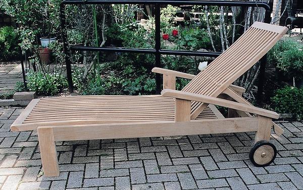 ガーデンチェア リクライニング チェア 高級 チーク材 木製 ガーデン 家具 ホールディング ラウンジ 幅650×高さ560~1070×長さ1980 チーク ベッド ベランダ 椅子 完成品 テラス 庭 ガーデンファニチャー おしゃれ 送料無料