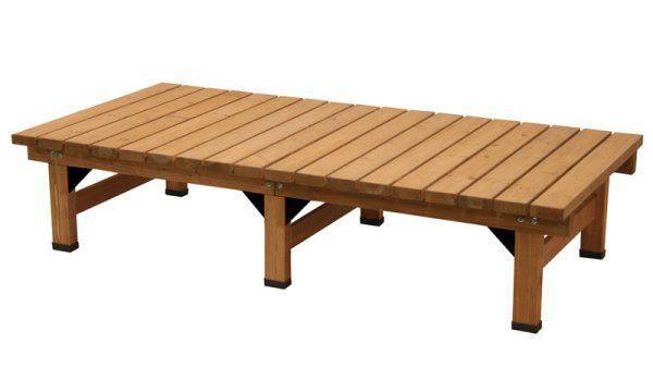 ガーデンチェアベンチ縁台 デッキ縁台(大) 杉材 ウッドデッキ ベランダ椅子 杉材 ウッドデッキ ベランダ椅子, GUARD:e10d1749 --- sunward.msk.ru