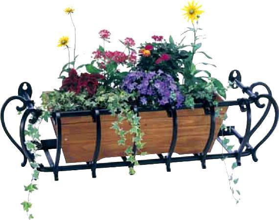 フラワーボックス 壁飾り アイアン風フラワーボックス花恋2155 壁飾り 窓手すり アルミ鋳物 エクステリア 防犯