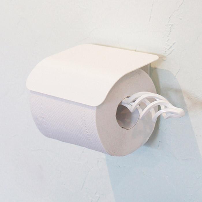トイレットペーパーホルダー ヨークペーパーホルダーB ホワイト アイアン ナチュラル モダン おしゃれ 壁 洗面 トイレ