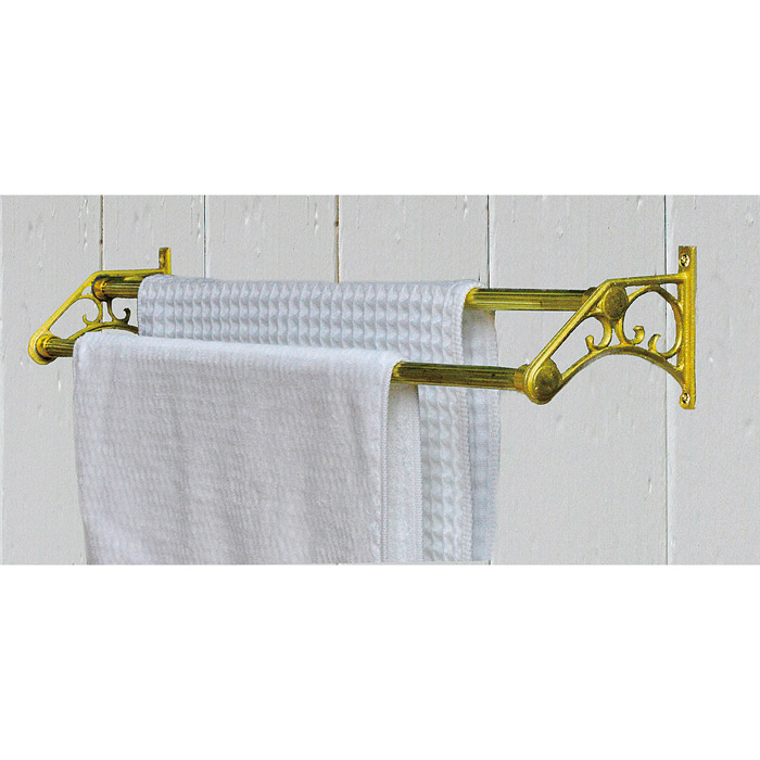 タオルハンガー タオル掛け タオルバー W Towel Bar 500 HP 真鍮製 アクセサリー おしゃれ 壁 洗面 トイレ キッチン