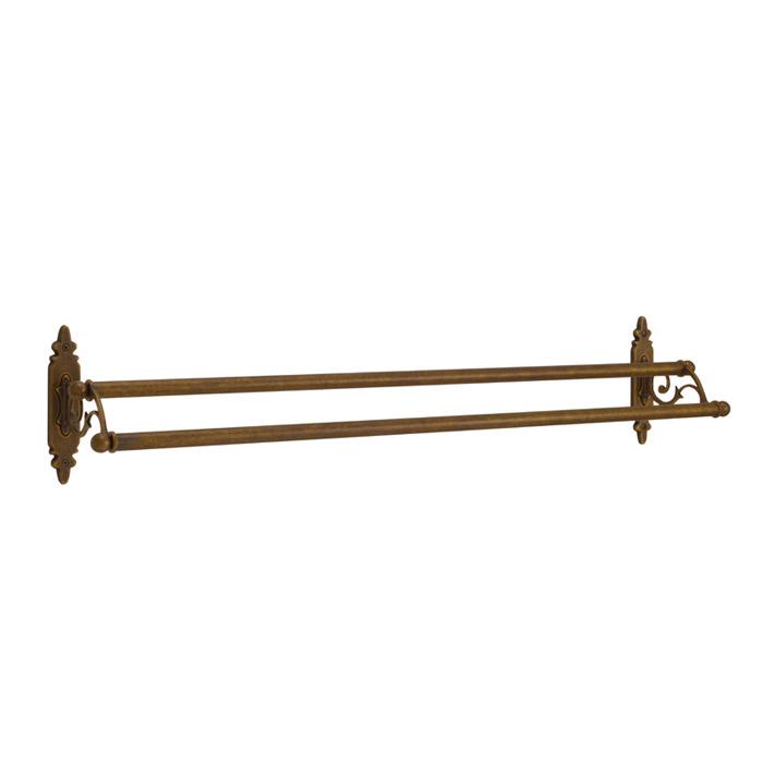 タオルハンガー タオル掛け サニタリーアイテム CLシリーズ ダブルタオルバー 68 CL AN 真鍮製 古色 おしゃれ 壁 洗面 トイレ キッチン