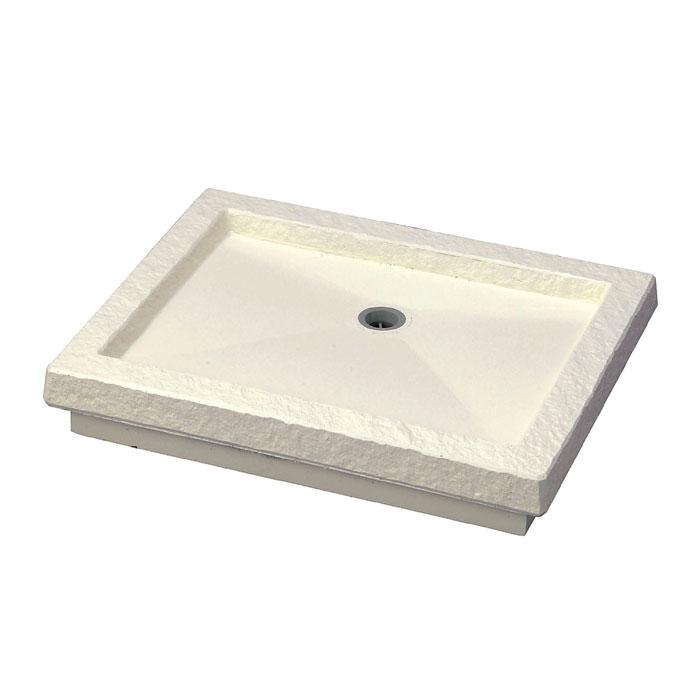 立水栓 パン ガーデンパン トレビ フラット ガーデンパン アイボリー 手洗い鉢 立水栓 水栓柱に設置