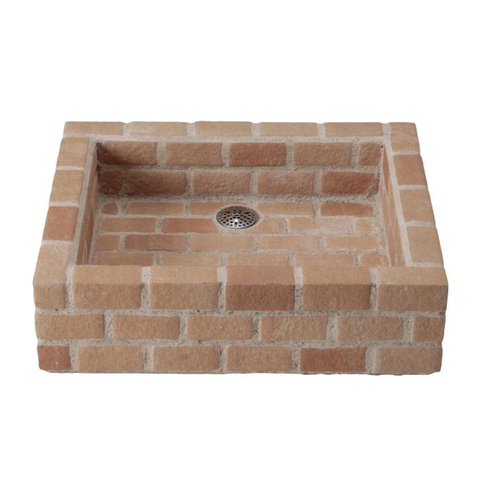 【第1位獲得!】 ブリック ガーデンパン 水栓柱に設置:エストアガーデン 立水栓 パン 手洗い鉢 ガーデンパン ハニー 立水栓-エクステリア・ガーデンファニチャー