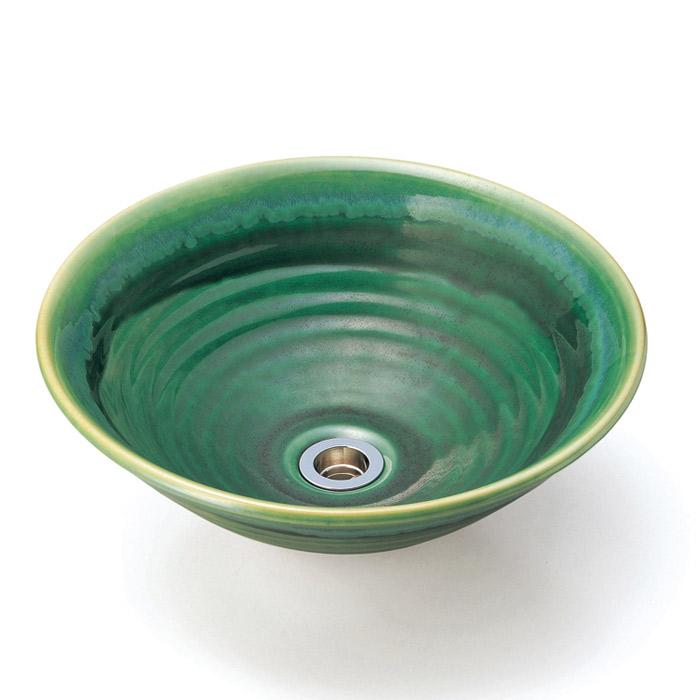 洗面 洗面ボール 洗面ボウル 手洗い鉢 洗面台 磁器 洗面 ボール ボウル 沙羅 織部 Lサイズ 直径380ミリ
