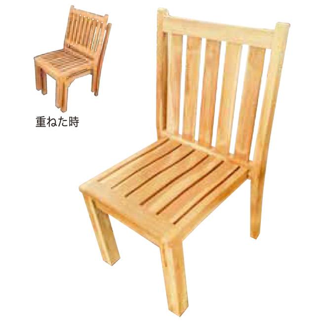 ガーデンチェア 高級 チーク材 ベランダ チェア 椅子 木製 ガーデン 家具 スタッキングチェア 幅500×高さ880×奥行580×座面高410 チーク材 完成品 屋外 テラス 庭 ガーデンファニチャー アウトドア 積重 おしゃれ 送料無料