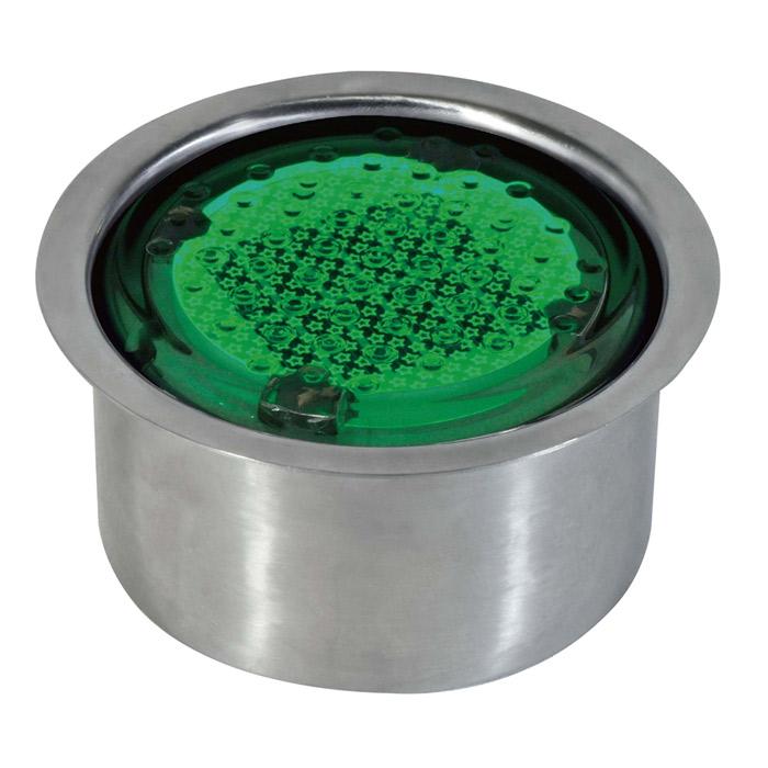 屋外照明 ソーラーライト LED 照明 埋込 駐車場 ライト 外灯 発光ダイオード TZA-123GN 緑 直径100タイプ 点灯 ステンレスケース付 誘導灯 照明器具