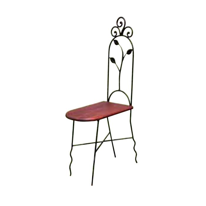 【スーパーSALE特価★クーポンで300円OFF】 チェア スリムチェアN型 1脚 完成品 ブラウン チーク ロートアイアン モダン 椅子 室内向け 家具 インテリア
