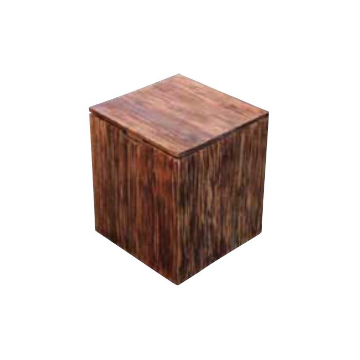 チェア スクラップボックスチェア 1脚 完成品 ダークブラウン バユル モダン 収納 椅子 室内向け 家具 インテリア