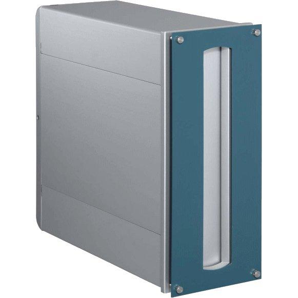 ポスト 郵便受け 埋め込みタイプ郵便ポスト デザインポスト ポスト口裏ボックス付 UT3A ブルー 埋込 シンプルスタイル
