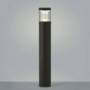 ガーデンライト ポール灯 庭園灯 LED一体型 白熱球60W相当 防雨型 地上高650 ブラウン 照明器具