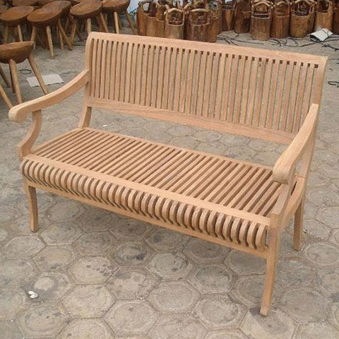 ベンチ ガーデンベンチ 木製 カステルベンチ 幅1300ミリ ガーデンファニチャー 完成品