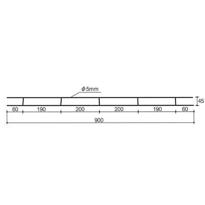 ガラスブロック専用施工用筋部材 梯子筋 10台単位 リフォーム 新築 DIY アプローチ