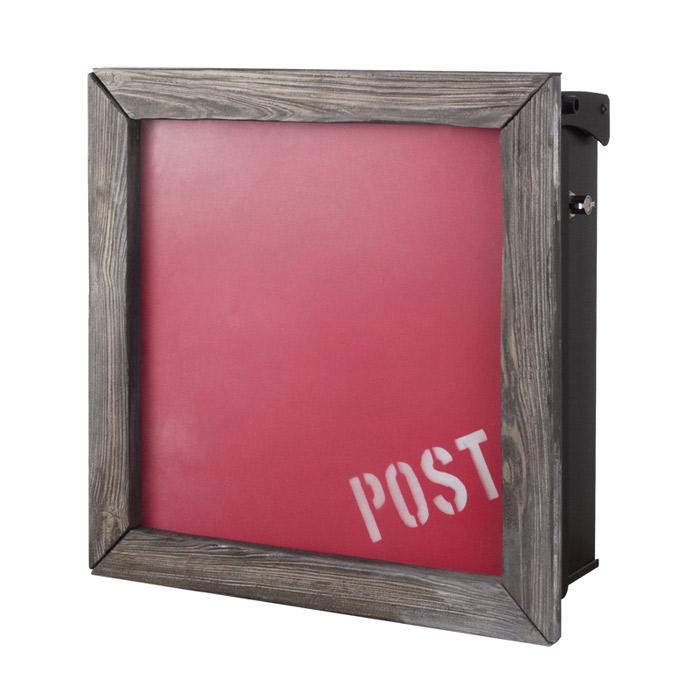 ポスト 郵便受け 壁掛け郵便ポスト デザインポスト 壁掛けタイプ(T型カムロック付) ヴァリオ ネオ オールドタイムズフレーム ウォッシュドレッド