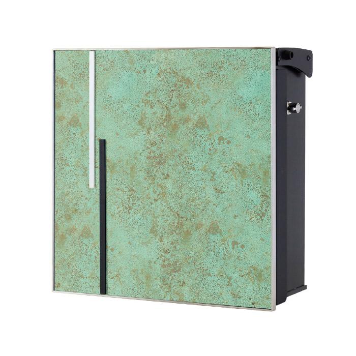 ポスト 郵便受け 壁掛け郵便ポスト デザインポスト ヴァリオ ネオ アクシデント Type01 壁掛けタイプ(T型カムロック付) 斑紋緑青色