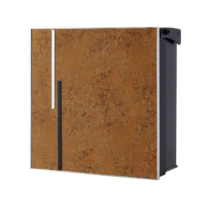 ポスト 郵便受け 壁掛け郵便ポスト デザインポスト ヴァリオ ネオ アクシデント Type01 壁掛けタイプ(鍵無し) 斑紋茶褐色