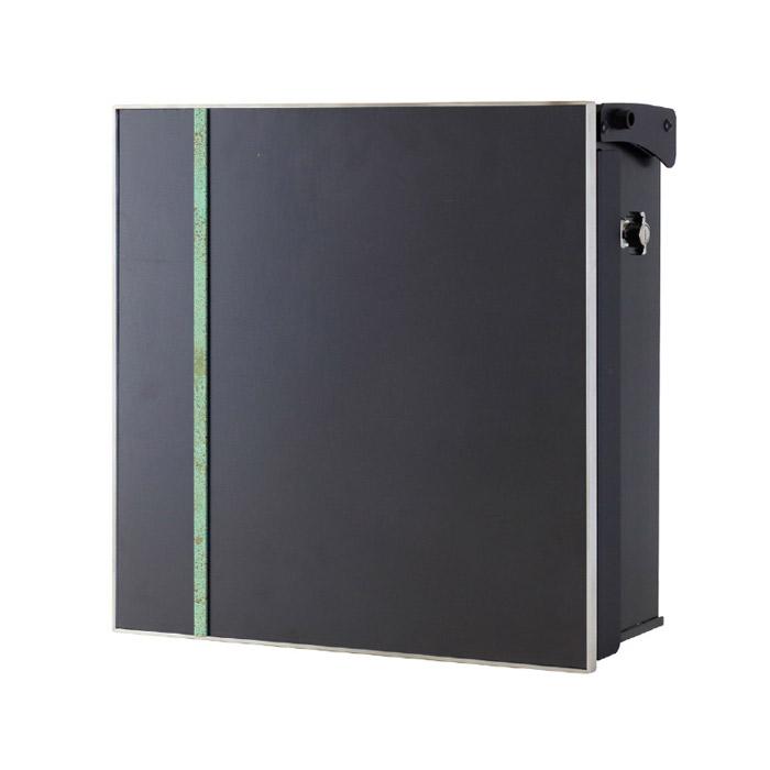ポスト 郵便受け 壁掛け郵便ポスト デザインポスト ヴァリオ ネオ アクシデント Type03 壁掛けタイプ(T型カムロック付) 斑紋緑青色