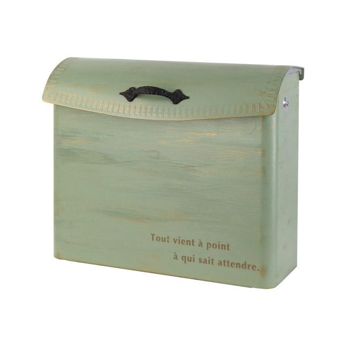 ポスト 郵便受け 壁掛け郵便ポスト 大型配達物対応クレール 鍵無し ブラッシュグリーン