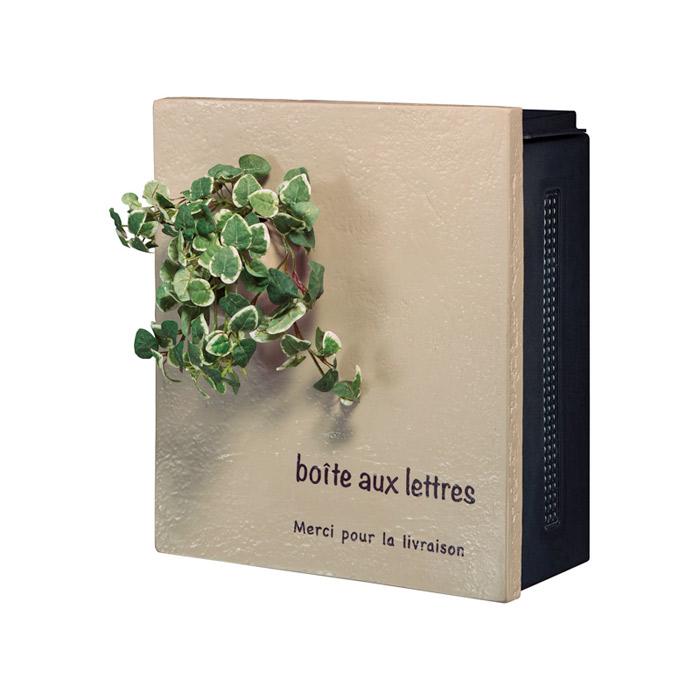 ポスト 郵便受け 壁掛け郵便ポスト デザインポスト クーリエ ポット トップポット ブラウン 左扉 ダイヤル鍵付き