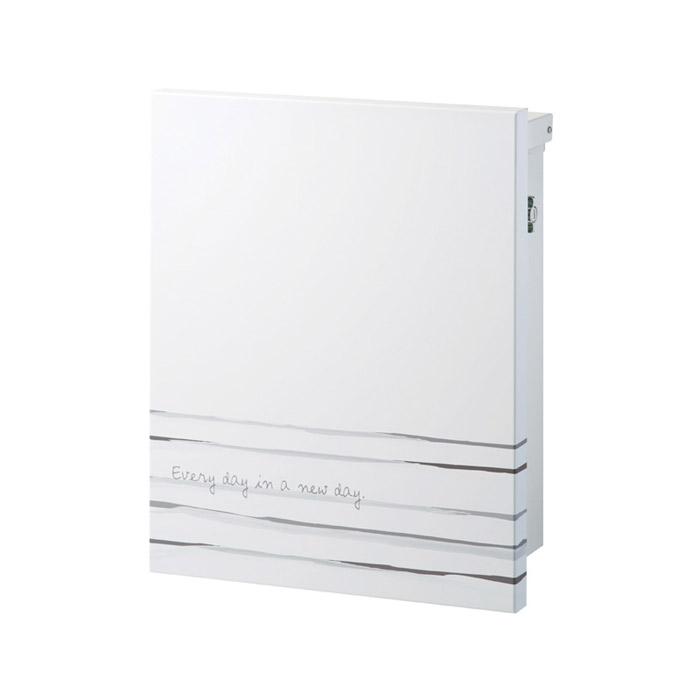 ポスト 郵便受け 壁掛け郵便ポスト デザインポスト ウォーターカラーポスト トワール ボーダー (T型カムロック付)