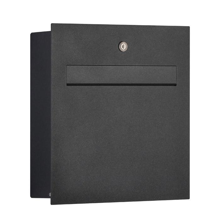 ポスト 郵便受け 郵便ポスト ドイツ・ハイビ社製 HEIBI POST 鍵付き モダンポスト T メタリックグレー