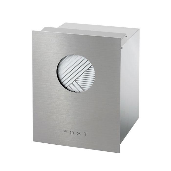 ポスト 郵便受け 埋め込み タイプ郵便ポスト 大型配達物対応 和の文 埋め込み 柵 竹縞 ヘアライン