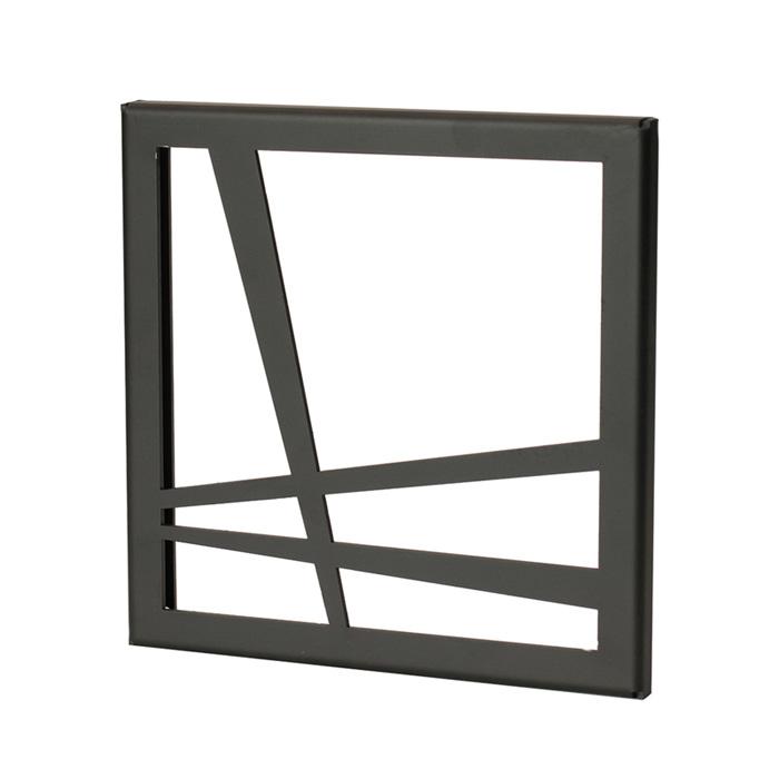壁飾り 外壁 ウォールアクセサリー 亜鉛鋼板(焼付塗装) シャドーピクチャー 190タイプ デザインF 取付ピン付属 装飾 製作品 diy