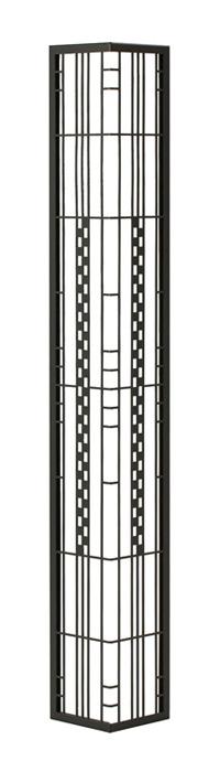 壁飾り 外壁 ウォールアクセサリー 亜鉛鋼板(焼付塗装) シャドーピクチャー コーナータイプ デザインB 取付ピン付属 装飾 製作品 diy