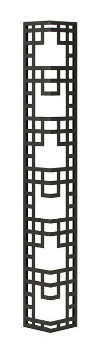 壁飾り 外壁 ウォールアクセサリー 亜鉛鋼板(焼付塗装) シャドーピクチャー コーナータイプ デザインC 取付ピン付属 装飾 製作品 diy