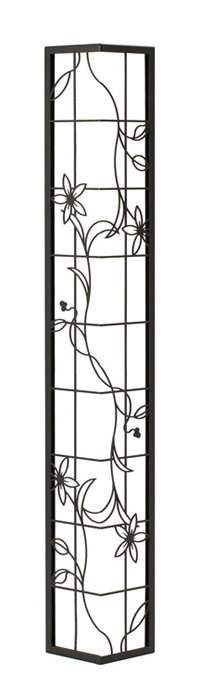 壁飾り外壁ウォールアクセサリー亜鉛鋼板(焼付塗装)シャドーピクチャーコーナータイプデザインE取付ピン付属装飾製作品diy