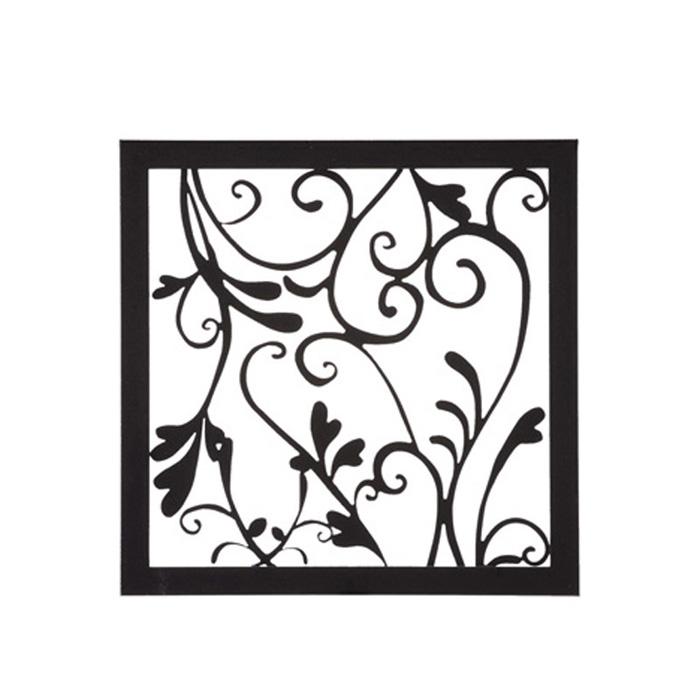 【スーパーSALE⇒50%OFF】 アイアン 壁飾り 外壁 ウォールアクセサリー アールパネルW200×H200 防錆処理 取付棒付属 装飾 製作品 diy