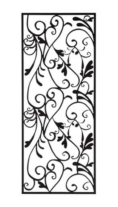 アイアン 壁飾り 外壁 ウォールアクセサリー アールパネルW450×H1100 防錆処理 取付棒付属 装飾 製作品 diy