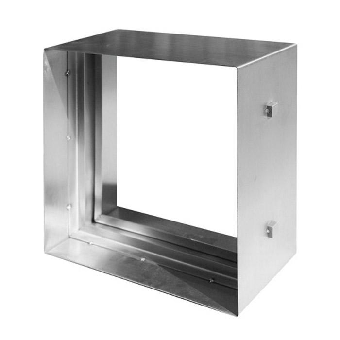 ステンドグラス ピュアグラス ピュアグラス オプション 200シリーズ専用 ステンレス枠 シルバー 208×208×D100mm リフォーム 新築 DIY