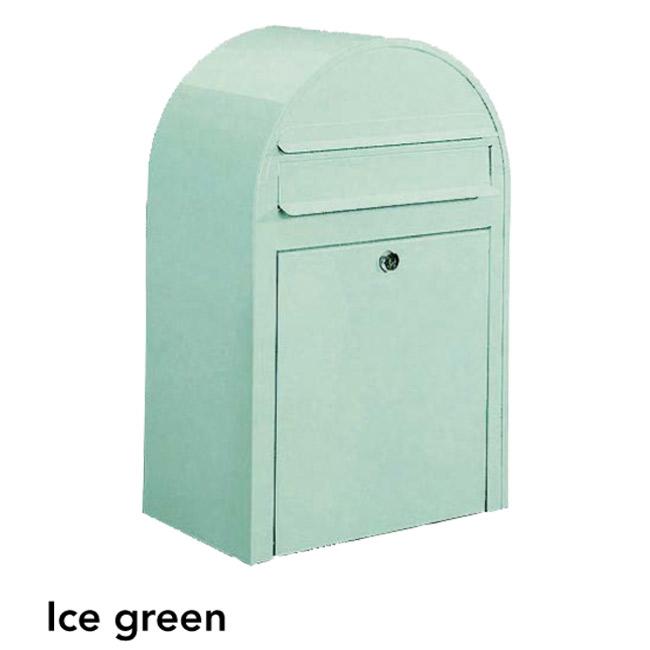 ポスト 郵便受け 壁掛け郵便ポスト デザインポスト ボビ アイスグリーン 前入れ前出し 鍵付き スタンド対応可 集合住宅対応