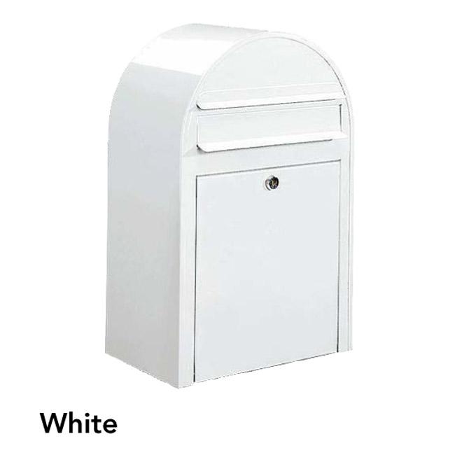 ポスト 郵便受け 壁掛け郵便ポスト デザインポスト ボビ ホワイト 前入れ前出し 鍵付き スタンド対応可 集合住宅対応
