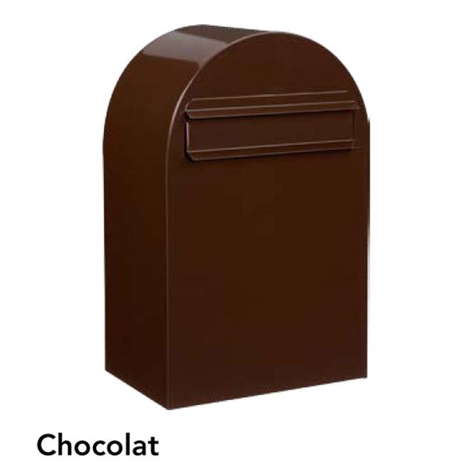 ポスト 郵便受け 郵便ポスト デザインポスト ボンボビ ショコラ 前入れ後出し 鍵付き スタンド対応 集合住宅対応
