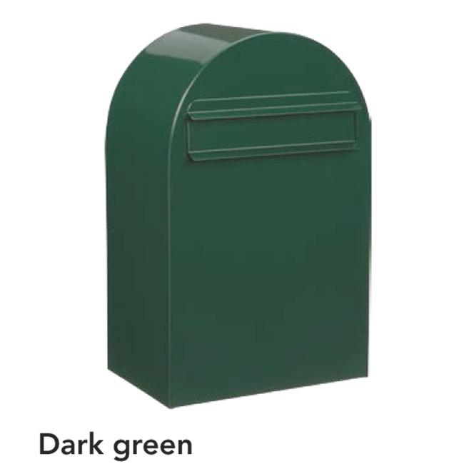 ポスト 郵便受け 郵便ポスト デザインポスト ボンボビ ダークグリーン 前入れ後出し 鍵付き スタンド対応 集合住宅対応