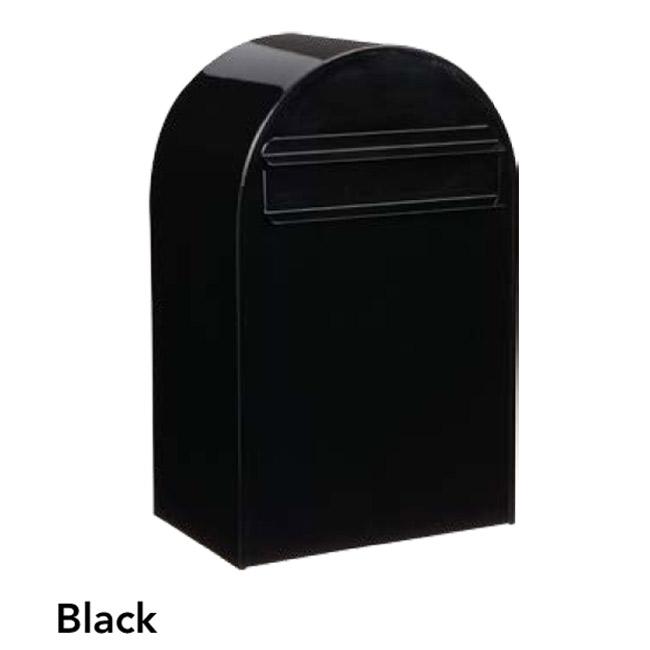 ポスト 郵便受け 郵便ポスト デザインポスト ボンボビ ブラック 前入れ後出し 鍵付き スタンド対応 集合住宅対応