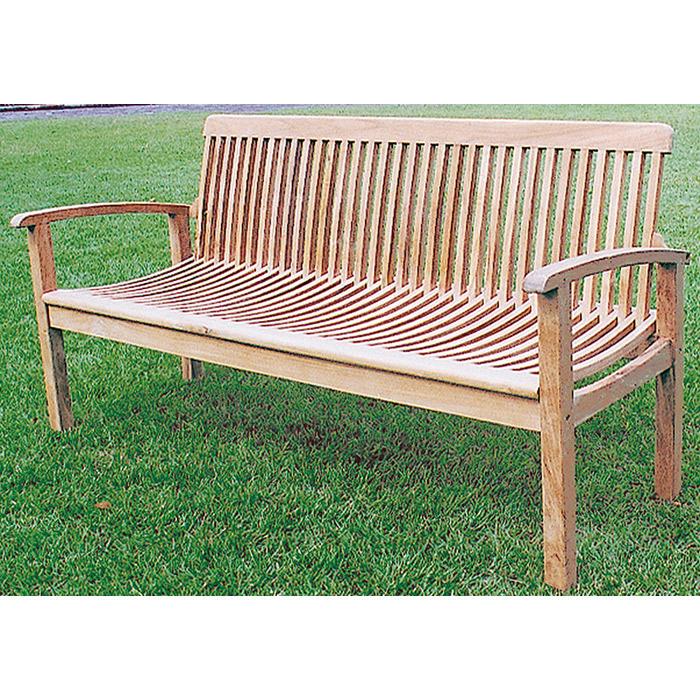 高級 ベンチ チーク材 ガーデンベンチ 木製 マルティナベンチ 幅1680ミリ ガーデンファニチャー 組立