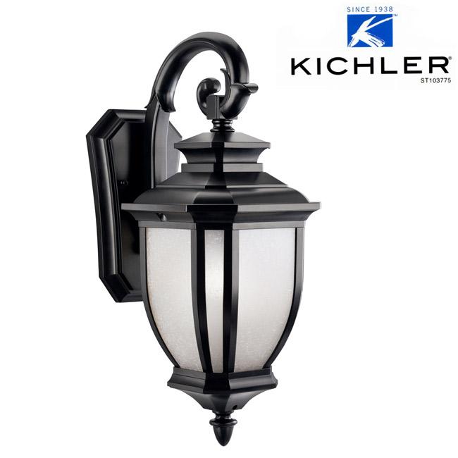 玄関照明 玄関 照明 LED 門柱灯 門灯 外灯 屋外 KIC-9040BKLD KICHLER キチラー ブラケット 照明器具 おしゃれ E26 LED電球