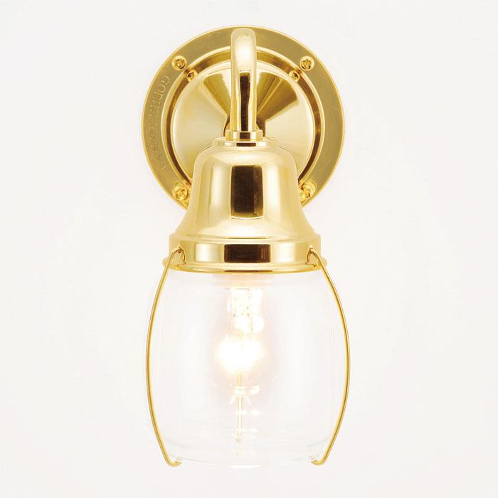 玄関照明 玄関 照明 LED 門柱灯 門灯 外灯 屋外 マリンライト BR1720-CL LE クリアガラス レトロ ブラケット 照明器具 おしゃれ 100V