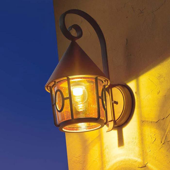 玄関照明門柱灯屋外照明ウォールライトポージィハロゲン球壁面取付け専用型オフホワイトステンドグラス外灯ブラケット照明