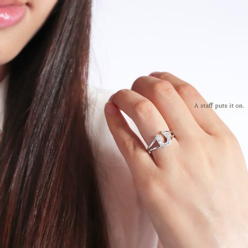 レディース 指輪 ダイヤモンド 馬蹄 ホースシュー 0 2ct リング プラチナ900 pt900アミュレット お守りジュエリー アクセサリー プレゼント ギフト SSSwn0OP8ZNkX