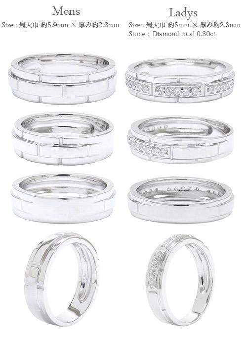 Auc Eternal K18 Gold Pair Ring Diamond 0 30 Ct 18 Gold Wedding Ring