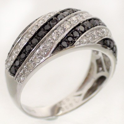 k18 ダイヤモンド ブラックダイヤモンド 1.00ct リング 指輪 ホワイトゴールドk18 18金 レディース アクセ アクセサリー【送料無料】【コンビニ受取対応商品】
