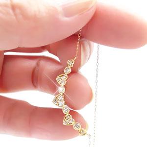 ダイヤモンド ネックレス 0 3ct 18金 k18 18k イエローゴールド ホワイトゴールド ピンクゴールド ハート ペンダ6fb7gy