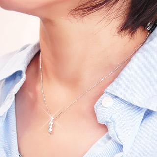 Auc eternal rakuten global market diamond necklace trilogy diamond necklace trilogy necklace three stone 030 ct platinum 900 pt900 pendant aloadofball Choice Image