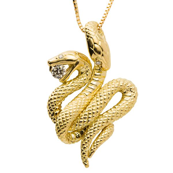 Auc eternal rakuten global market k18 snake snake snake necklace k18 snake snake snake necklace diamond 01ct pendant lucky charm power stone aloadofball Gallery