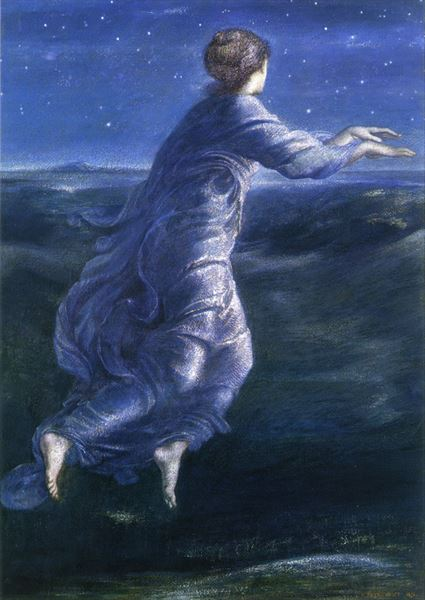 油絵 Edward Burne-Jones_ 夜